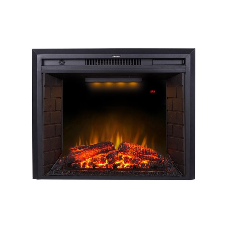 30 Inch Black Recessed Electric Fireplace Insert with ...