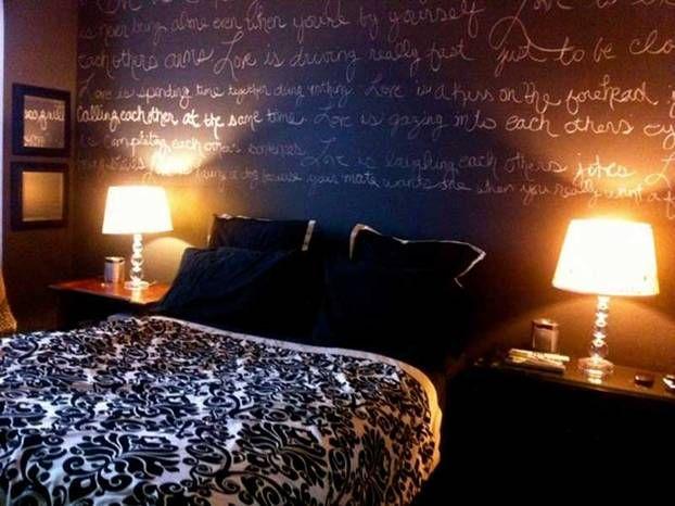 Vernice lavagna in camera da letto