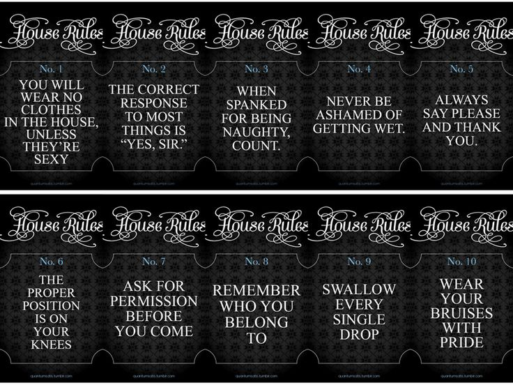 Rules Of Bdsm 27
