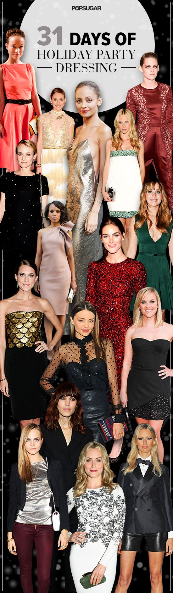A month's worth of perfect #holiday party outfits