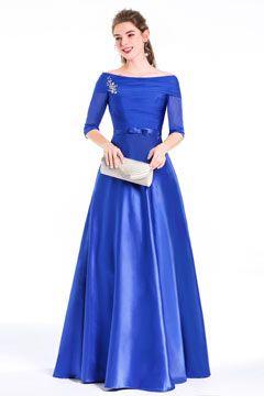 robe soiree longue bleu occasionformelle ornee de bijoux 102,77 €