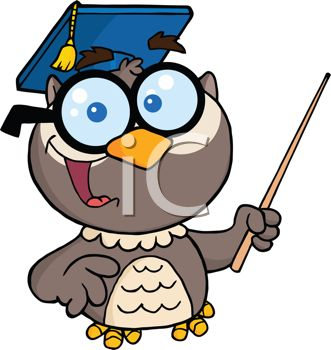 Owl wearing a mortarboard
