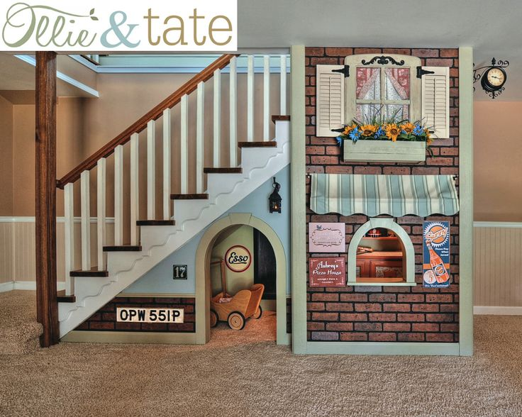 Under The Stairs Playhouse, Kids Playhouse, Indoor Playhouse, Pretend Bakery, Kids Fort, Play Kitchen, French Style Play Shop, Ollie And Tate