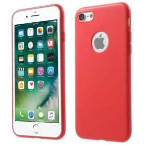 Husa iPhone 7, Protectie Silicon, Spate, Red