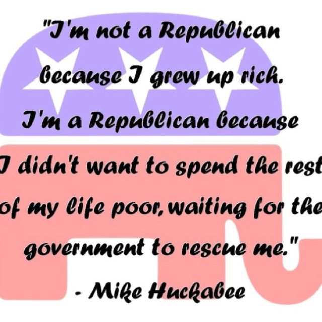 Republican because...
