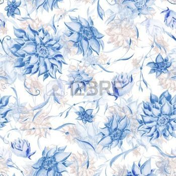 soft floral seamless patterns: Seamless watercolor background with beautiful flowers for textile design