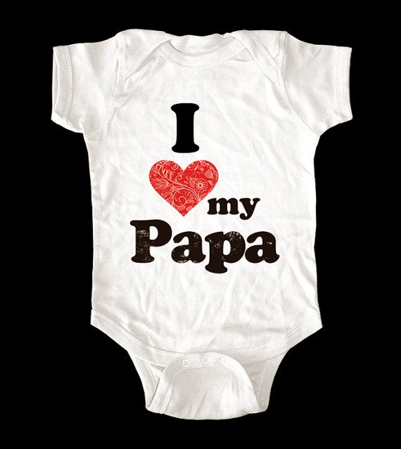 I Love Heart my Papa shirt  Printed on Soft Cotton by lovespace