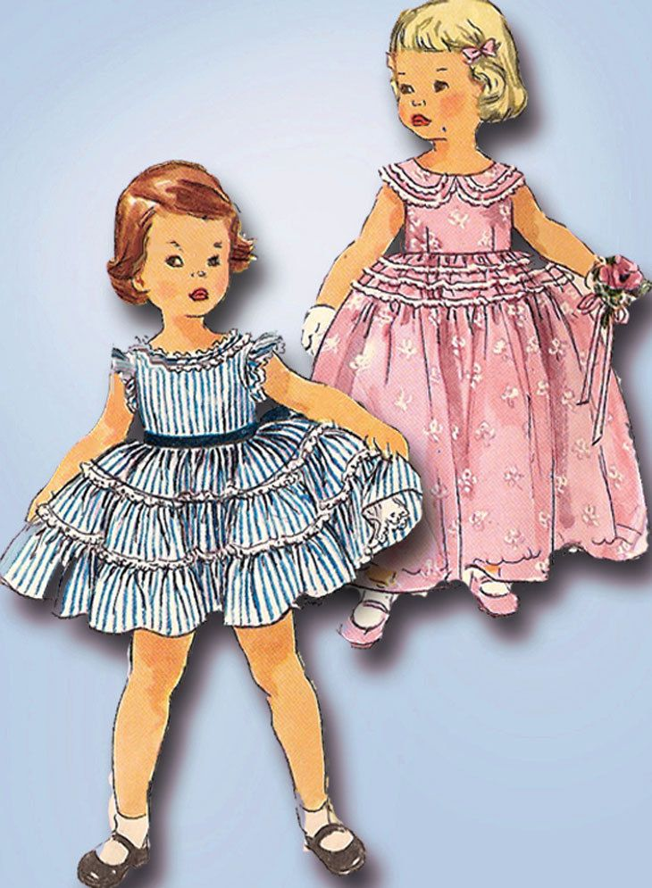 1950s Vintage Simplicity Sewing Pattern 1109 Ff Toddler
