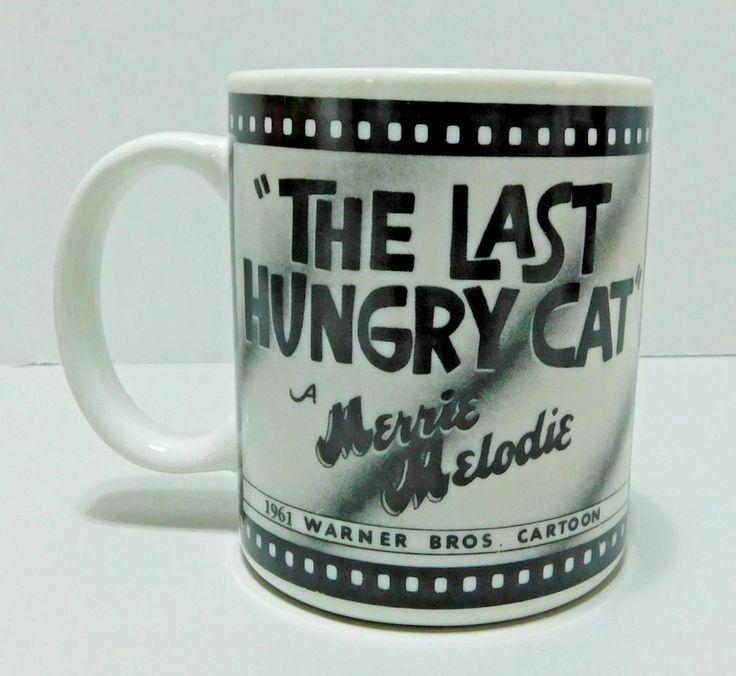 The Last Hungry Cat 1961 Warner Bros Cartoon Sylvester Tweety Black White 12 oz #WarnerBros