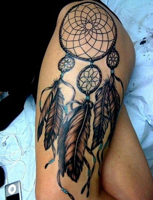 17 best ideas about dreamcatcher tattoos on pinterest for Meaningful thigh tattoos