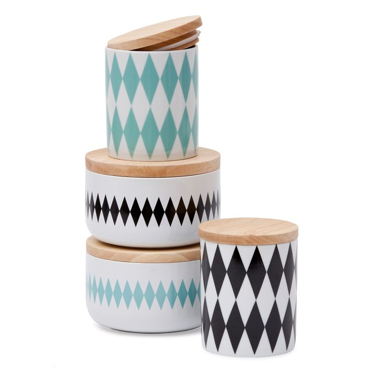 Black Diamond Canister Medium | Storage | Homeware - Me and My Trend