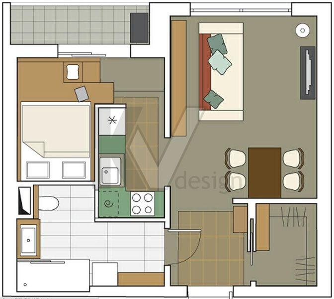 Перепланировка однокомнатной квартиры в двухкомнатную, дом серии П-3М