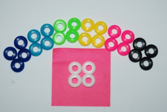 25 Colored Grommets for DIY Mason Jar Cups, Tumblers, Silicone Grommets Food Safe, Rubber Grommets