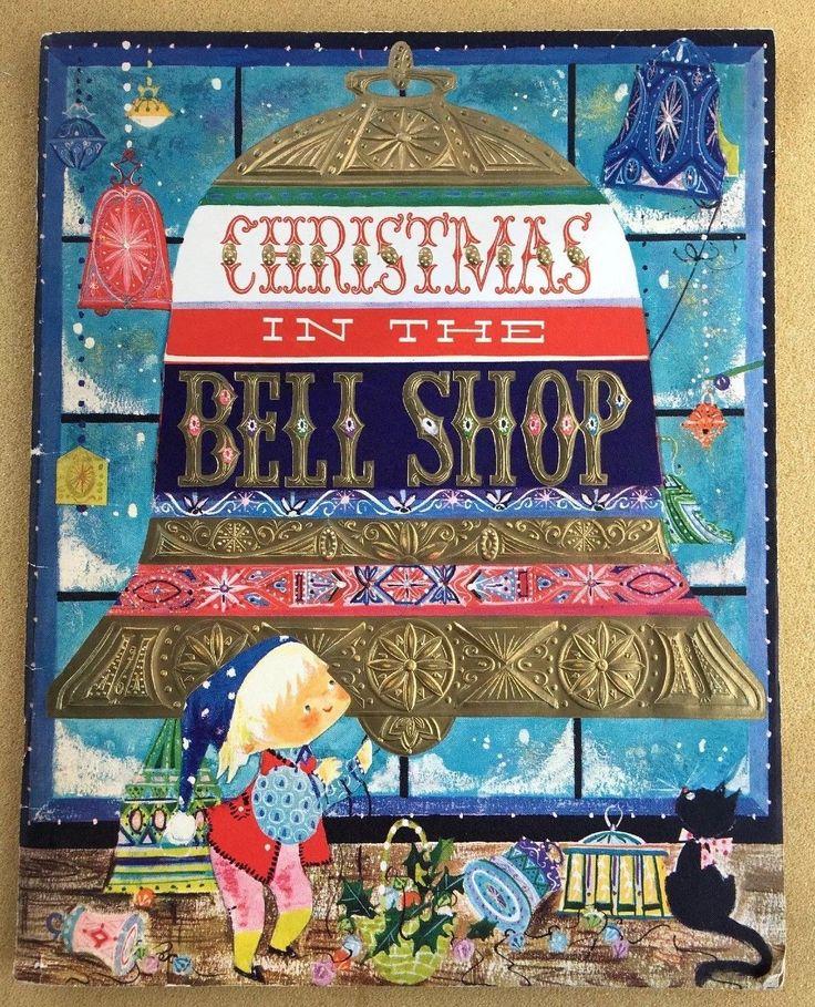 large vintage hallmark christmas card story book retro