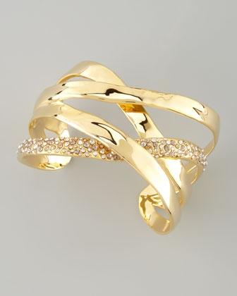 Bel Air Druzy Ribbon Cuff Bracelet by Alexis Bittar at Neiman Marcus. $245