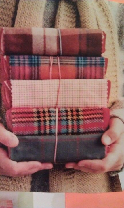 Scraps of plaid for wintry gifts