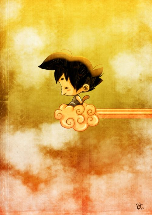 this is what I was thinking murals wise goku on cloud soaring around room clouds around the walls ceiling