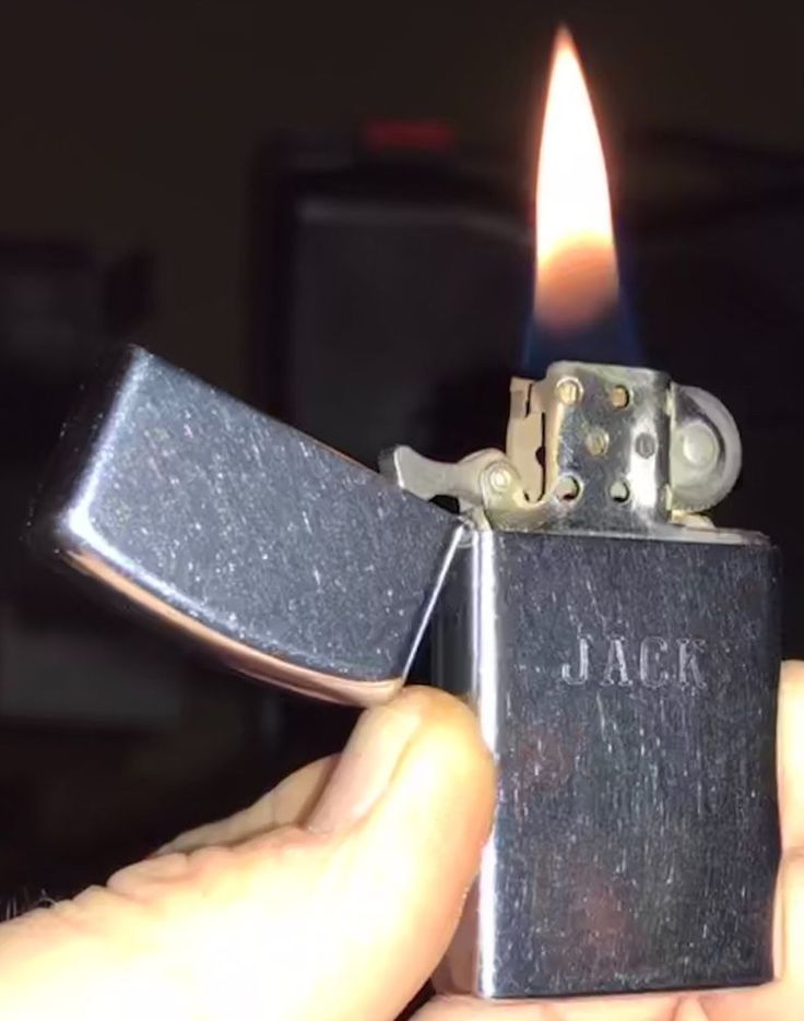 "1972 ""JACK"" Zippo SLIM Windproof Lighter GOOD TIGHT HINGE DEPENDABLE FLAME HDSA  