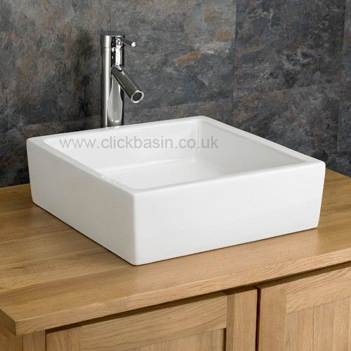 Countertop Sink : Bergamo 40cm x 40cm Square Ceramic Countertop Bathroom Sink