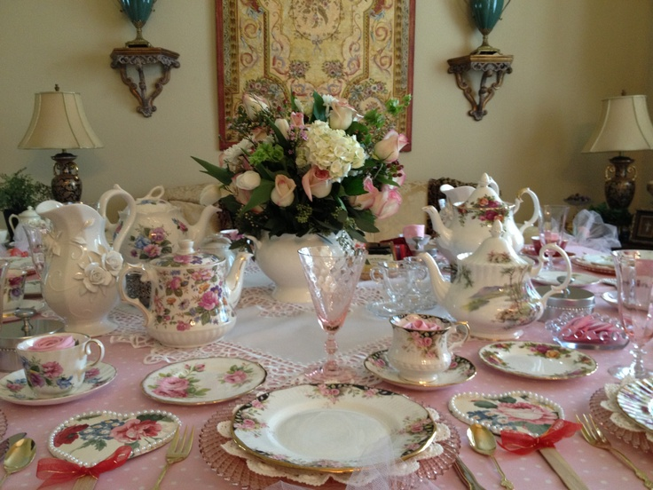 Tea Table Set for 10 From MakeItDelightful.com & 70 best Entertaining - Table Settings images on Pinterest | Floral ...
