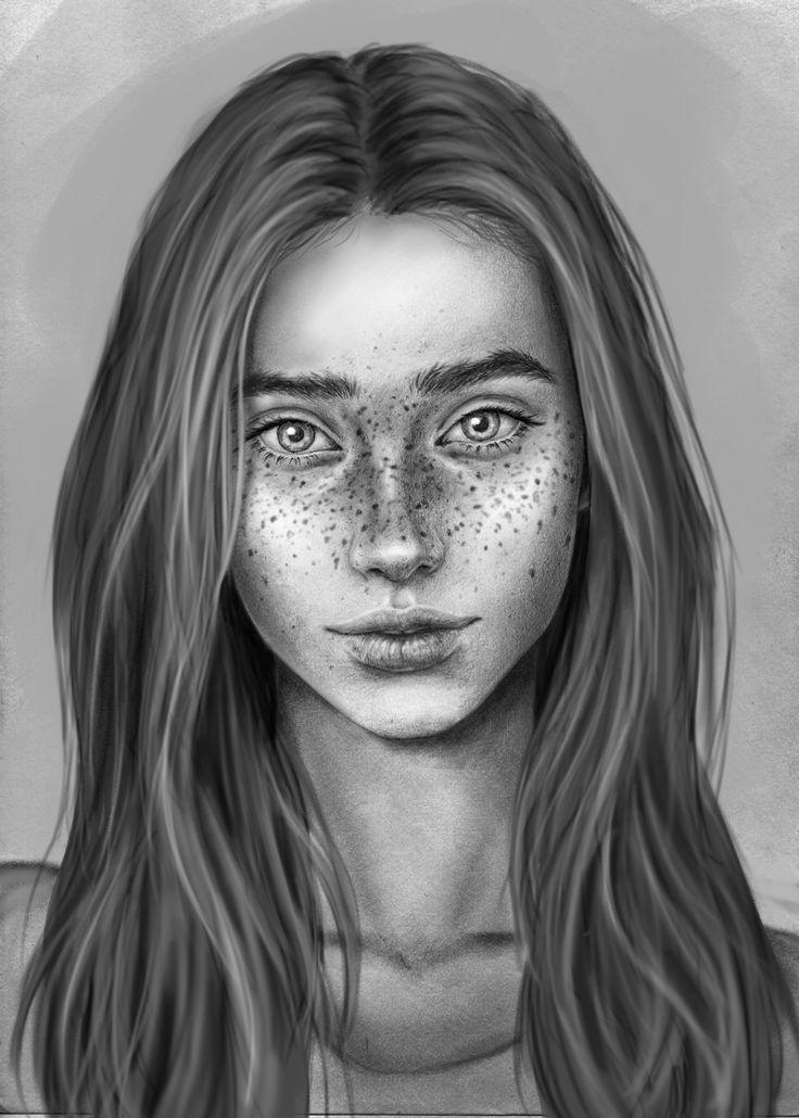 #blackandwhite #digitalart #girl #greyscale #photoshop #portrait