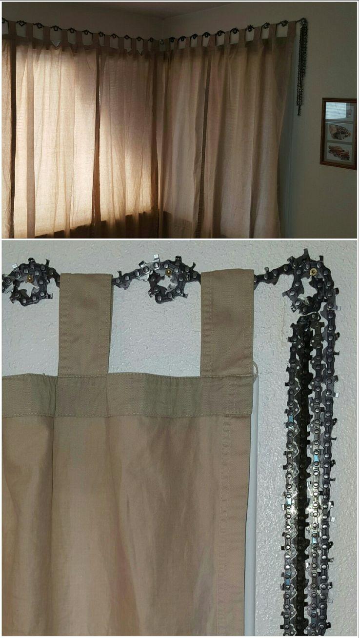 Chainsaw Chain Curtain Hanger