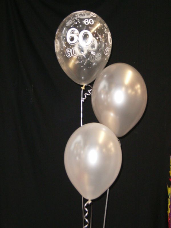 60th Diamond Wedding Anniversary 30 Helium Balloons 60th