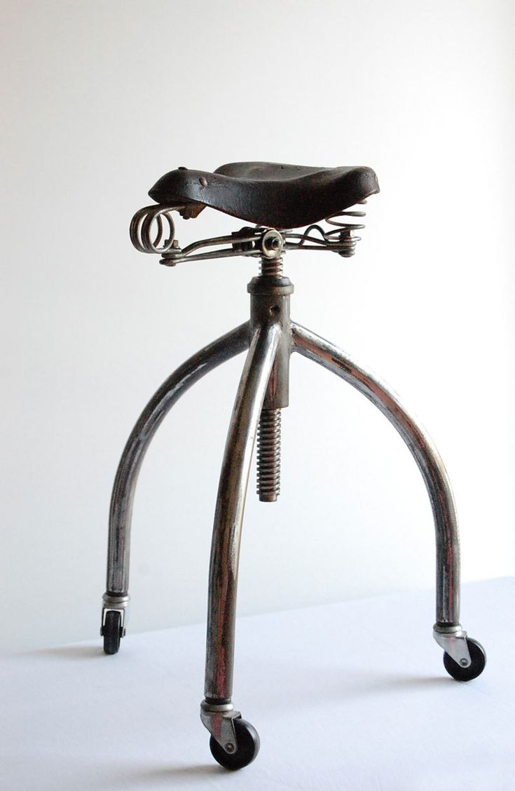Bicycle stool. Handcrafted, vintage industrial stool.