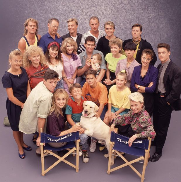 Neighbours, (my fav Australian Soap!) original cast. Some familiar faces before they made it big...Guy Pierce, Ian Smith...