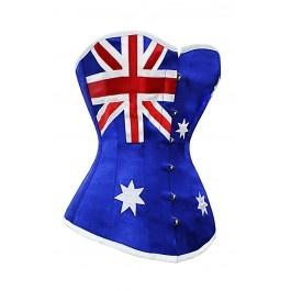 CD-619 - Flag of Australia Corset - MADE TO ORDER - Burlesque corsets - Burlesque Costumes