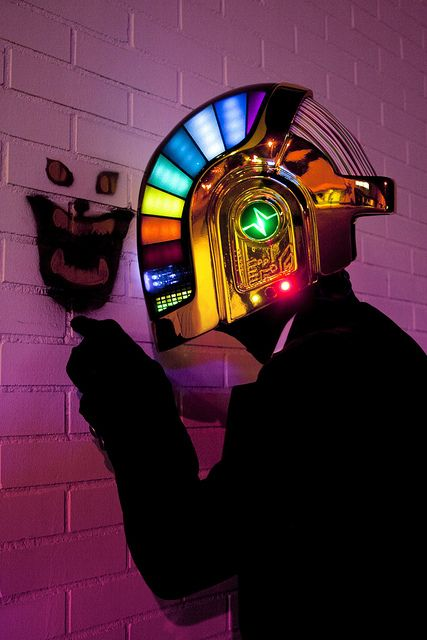 Daft Punk -  This is a scratch built prop. Click the link to see how this amazing prop was created.
