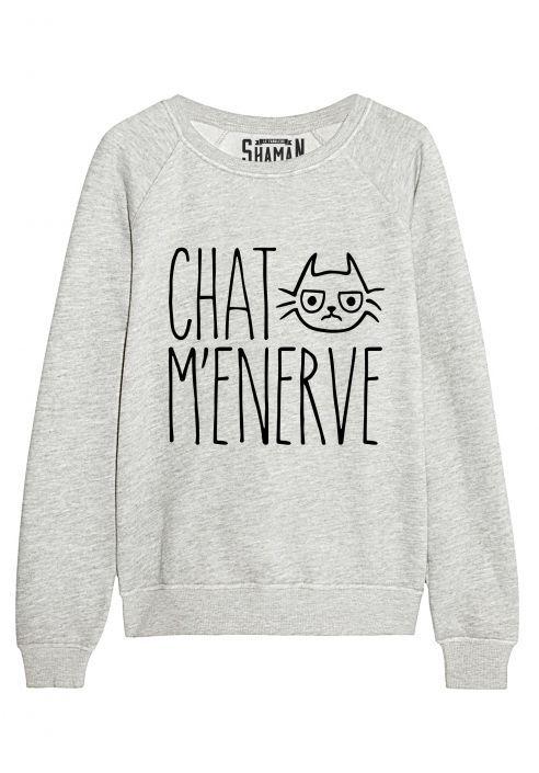 "Sweat ""Chat m'énerve"" http://amzn.to/2qVpaTc"