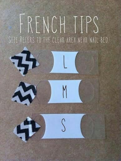 Sizing for french tips.  Shop at drcoleesnails.jamberry.com