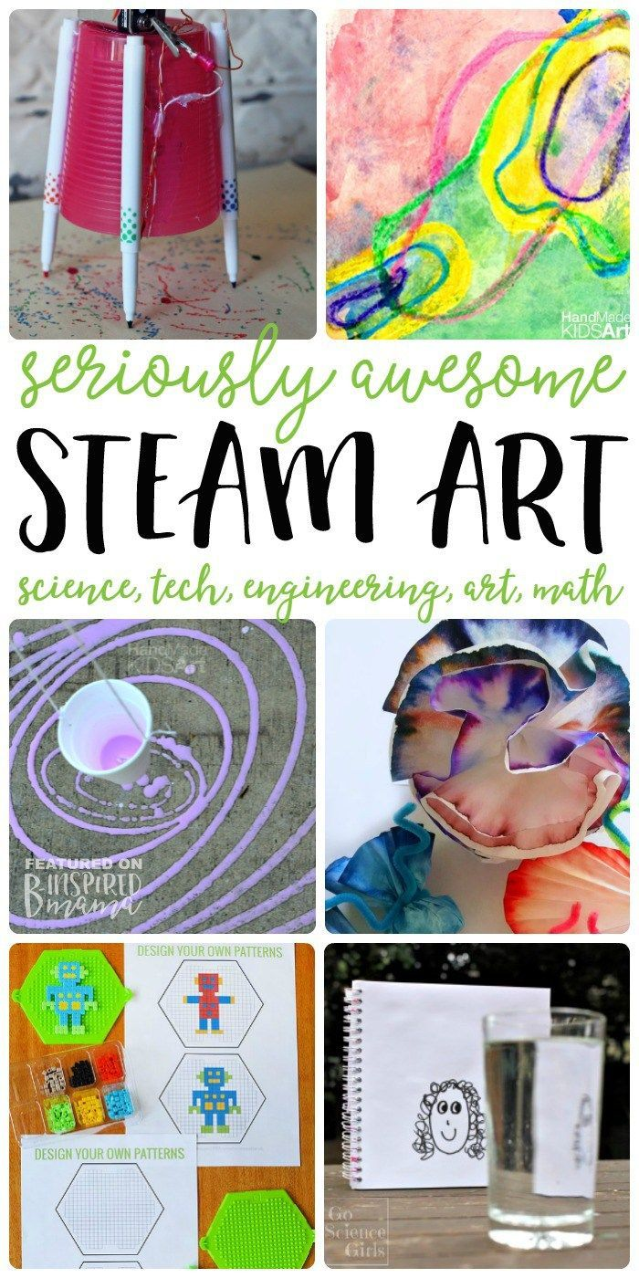 7 STEAM Art Activities your kids will love - All the fun of science, technology, engineering, and math integrated with awesome ART! - at B-Inspired Mama