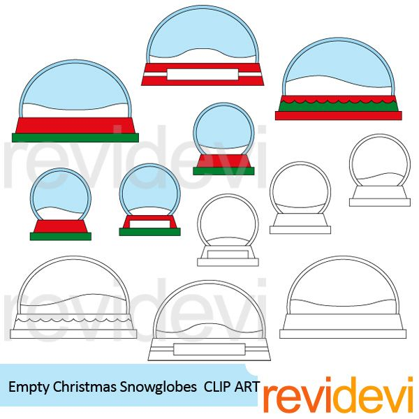 Empty+Christmas+Snow+Globes+Clipart.+Fun+Christmas+clip+art+for+making+crafts,+activities+for+kids,+and+more+creations!+This+pack+features+empty+snowglobes.+It+will+be+fun+to+put+other+graphics+inside+the+snow+globe.