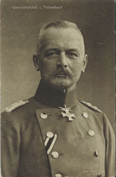 "Erich von Falkenhayn letter to Kaiser - ""The string in France has reached breaking point. A mass break-through - which in any case is beyond our means - is unnecessary. Within our reach there are objectives for the retention of which the French General Staff would be compelled to throw in every man they have. If they do so the forces of France will bleed to death."" -Falkenhayn to Kaiser Wilheim II"