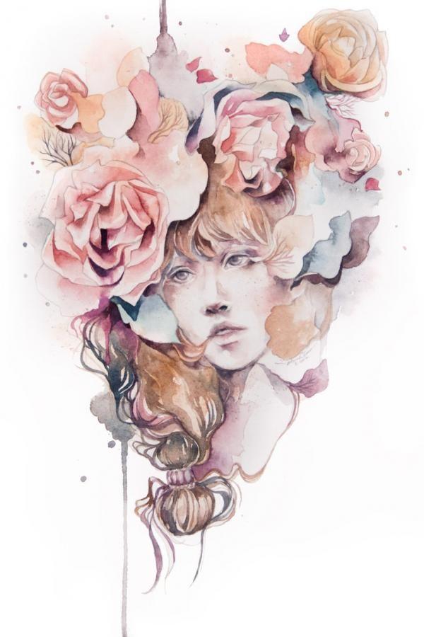 Tendrils.  Illustration by Valerie Ann Chua.  http://valerieannchua.com/