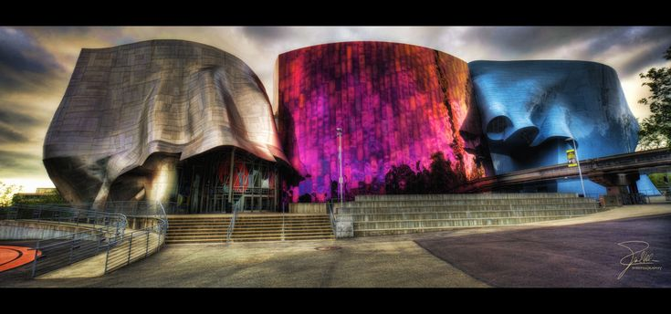 The EMP Museum in Seattle, Washington is an interactive museum offering biographies of pop music stars with audio and video.