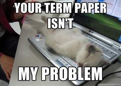 your term paper isn't my problem