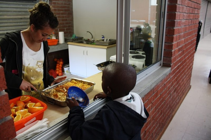 As a volunteer, you will serve a meal to the children at about 10:30am when they have their first break.  For many for the children, this will be their first meal of the day.