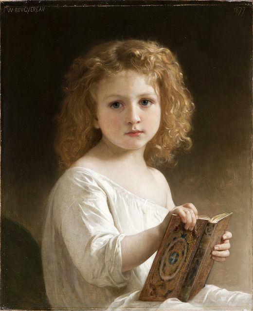 William-Adolphe Bouguereau - The Story Book (1877)  ~Repinned Via marlene dickerson http://www.flickr.com/photos/gandalfsgallery/6202758251/in/photostream/