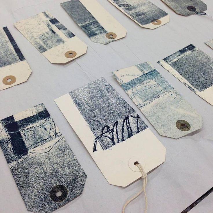 Hannah Lamb: Ghost Print labels, 2015