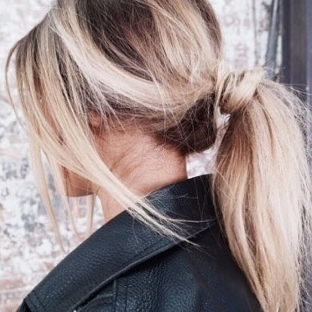 Messy pony ✨ #hairspo