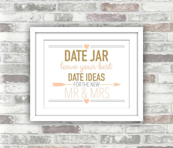 Wedding table games - date jar