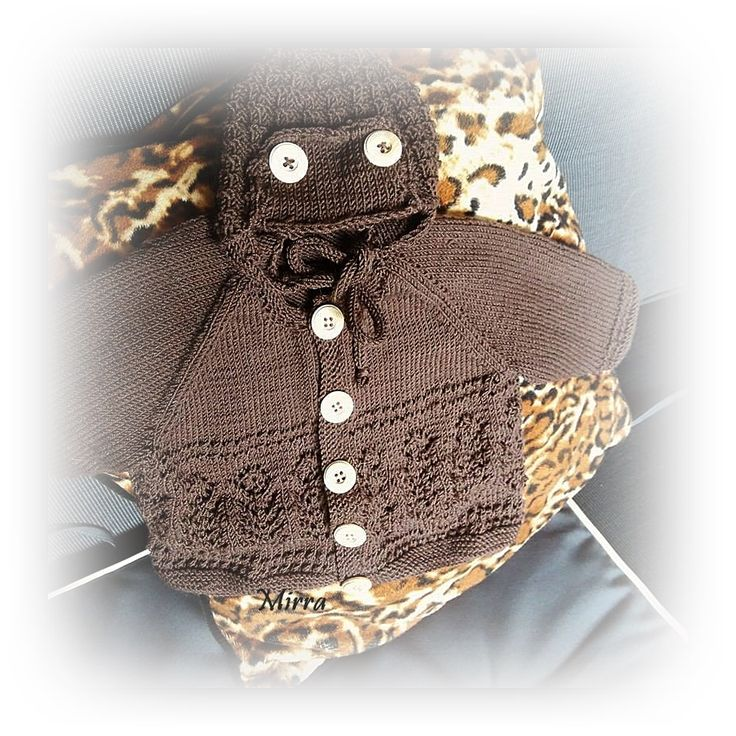 Pilotlue og babyjakke 3 mnd DaleGarn oppskrift og Baby Merino ullgarn Drops