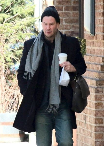 Keanu Reeves Photos Photos - 'John Wick' star Keanu Reeves stops to get a coffee while out and about in New York City, New York on February 3, 2015. Keanu is back in NYC after recently attending the 2015 Sundance Film Festival in Park City, Utah. - Keanu Reeves Stops for Coffee