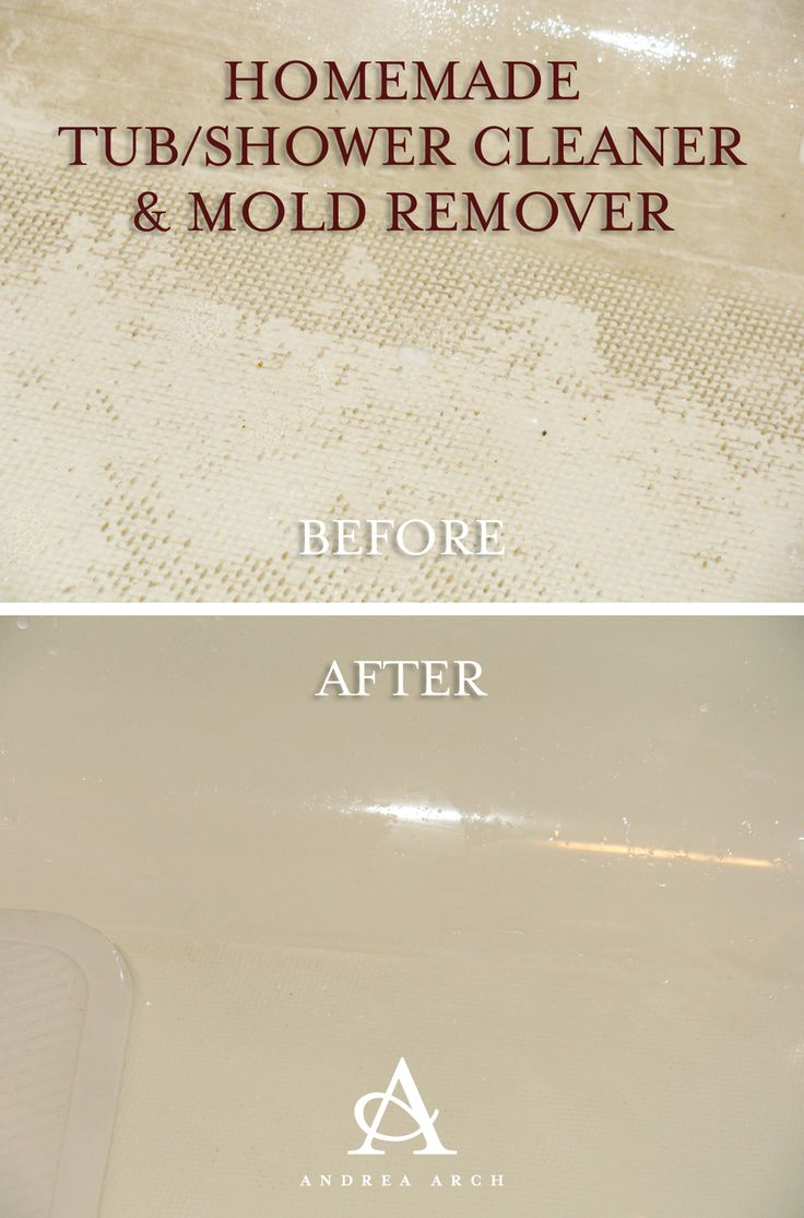 Homemade Tub/Shower Cleaner + Mold Remover! Distilled white vinegar and baking soda...