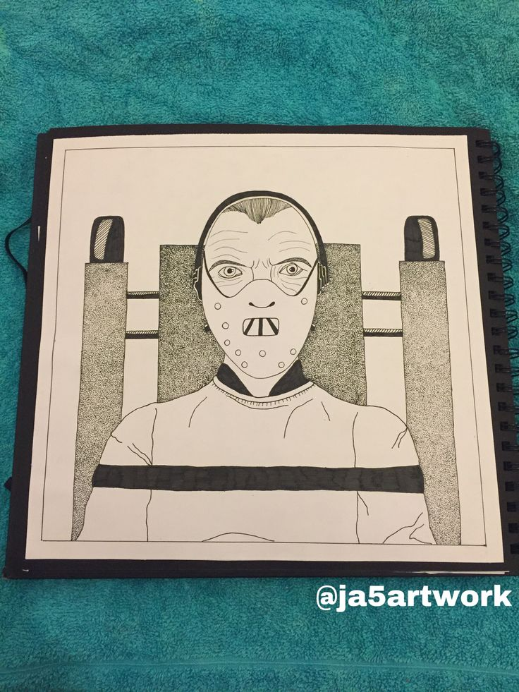 Large Hannibal Lecter Stippling piece in 2020 Stippling