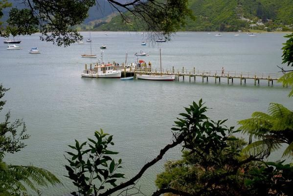 Photo: Pat Tuohy ... Anakiwa jetty in Queen Charlotte Sound, with the Outward-bound boats getting ready to leave for the next adventure. Canon Summer Pix 2013/14 competition