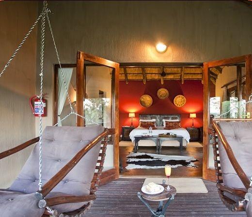 Swinging chairs at Elephant Rock Lodge #Safari http://www.nambiti.com/explore-game-lodges/